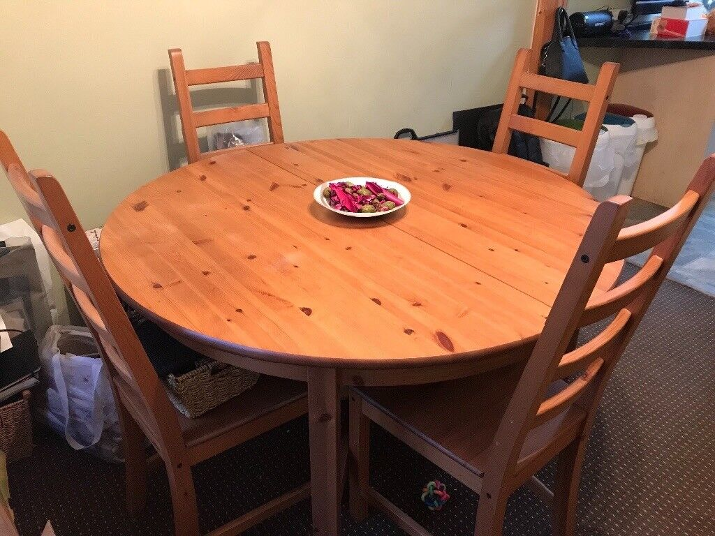 IKEA Extendable Dining Table Chairs