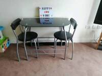 SMALL TABLE 2 CHAIRS