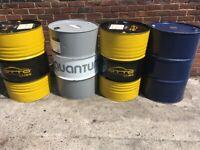 Oil drum pan barrels for wood burning burner fire pit incinerator can cut deliver