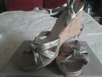 Gold wedges by Dune (size 8/41)