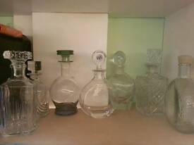 Collection of decanters
