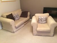 Bed settee and matching arm chair