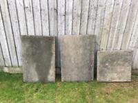 3 large heavy duty patio slabs