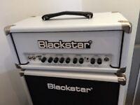 Guitar Amp, Blackstar HT5RSW - LTD HT5R WHITE MINI STACK W/REVERB