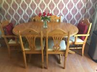 Pine Dining Table & 6 Chairs