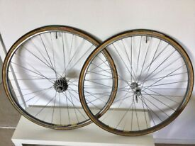 Road Bike 700 Eroica Wheelset Dura Ace 7410 Campagnolo Hubs Mavic GP4 Rims Vittoria Tyres Vintage