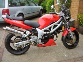 Suzuki sv650 naked unfaired bike.