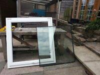 """UPVC white opening double glazed window frame 1143w x 1187h / 45""""w x 46.75h"""