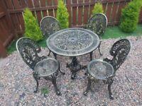 Cast iron garden furniture set