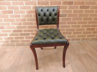 Leather Chesterfield Desk Chair (UK Delivery)