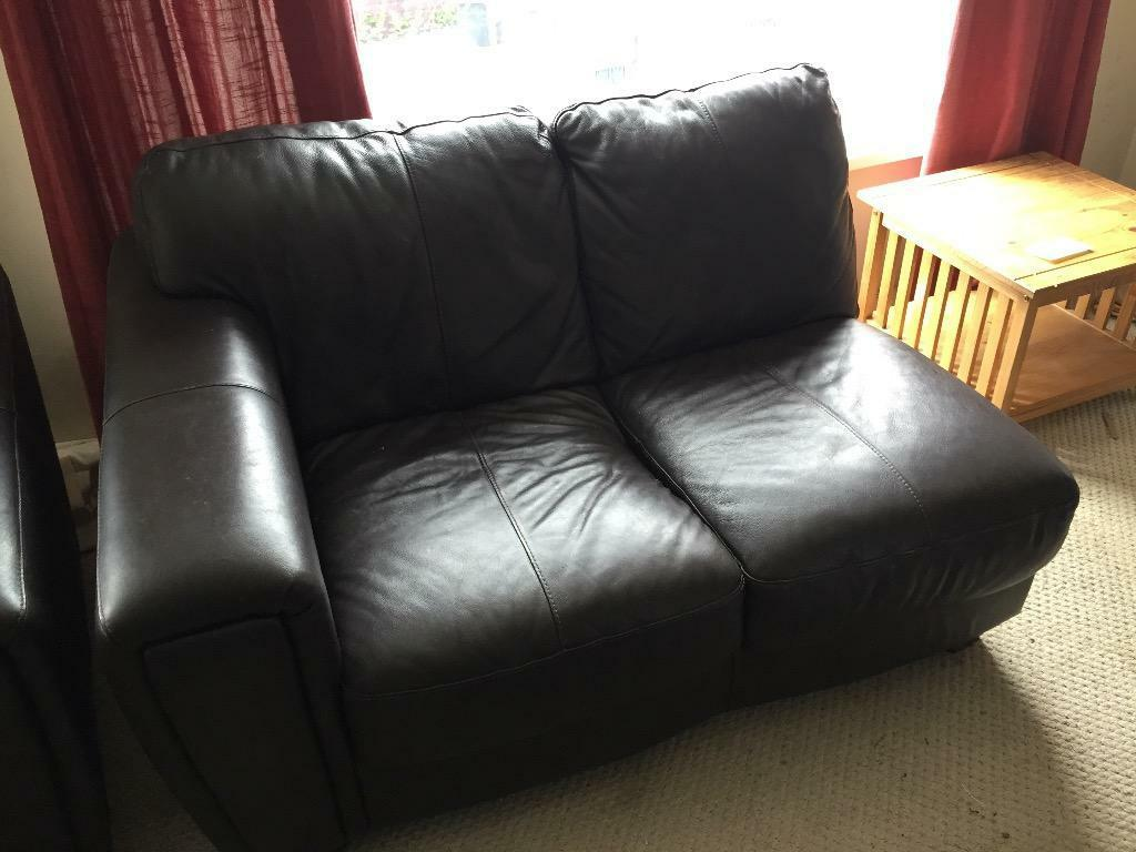 Large Dark Brown Comfy Leather Corner Sofa And Armchair Quick Sell In Plymouth Devon Gumtree