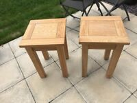 2 x solid oak lamp tables (from Ponsfords