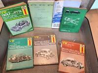 VW Haynes Manuals and other workshop parts books