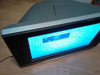 "23"" Large TV, Daewoo DC DUB2850GB + Freeview Box + Remotes + DVD Player"