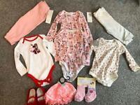Baby girls bundle 9 items