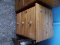 bedside cabinet pine good condition no longer needed see photos £ 10
