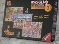 presentation box of 3 1000 piece wasgij jigsaws