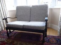 Up-cycled Victorian cottage style sofa in Design Project by John Lewis fabric