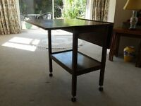 SMALL TABLE WITH FOLDING WINGS
