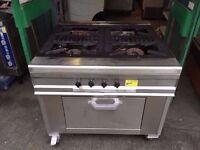 GAS PUB BAR CATERING DINER KITCHEN 4 BURNER TAKEAWAY SHOP CAFE COMMERCIAL FASTFOOD COOKER RESTAURANT