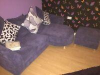 Brand new sofa and storage puffet