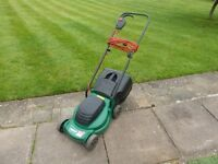 QUALCAST 32cm ELECTRIC MOWER + GRASS BOX