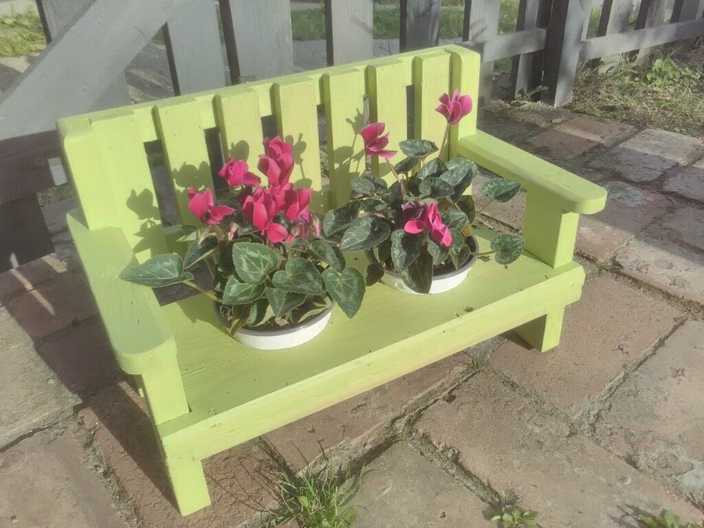 Hand Made Mini Garden Bench Plant Pot Holders In Norwich Norfolk