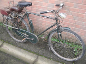 Vintage Raleigh Bike with Motor