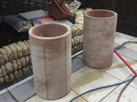 Large 300mm diameter clay pipe ideal for garden pots