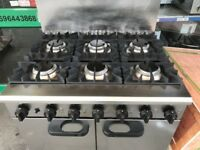 CATERING COMMERCIAL 6 BURNER COOKER WITH OVEN UNDER CAFE SHOP TAKE AWAY COMMERCIAL KITCHEN CAFE SHOP