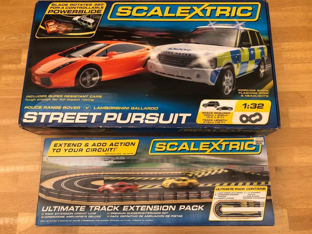 Scalextric Street Police Pursuit, extension set & 3 extra cars ( 5 total) |  in Shenley, Hertfordshire | Gumtree