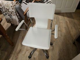 White/Chrome Office Chair - Excellent Condition - Very Stylish!