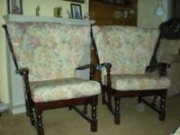 Two old fashion easy chairs