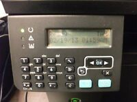 HP LASERJET M1212NF, MULTIFUNCTION FAX, SCAN, PRINTER COPIER, FOR SPARE OR REPAIR, SCANNER FAULTY.