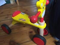 "Wooden ""Giraffe"" Ride-on Toy"