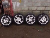 "Genuine Mercedes Audi Amg Alloys Staggered t 18"" CAN SELL SINGLES PART EX WELCOME CAN POST 5*112"