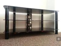 Large Frosted Glass TV Stand