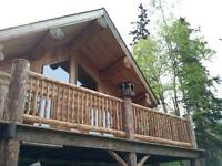 LAKE FRONT LOG HOME - 9184 DOYLE ROAD	- KAMLOOPS
