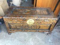carved storage box