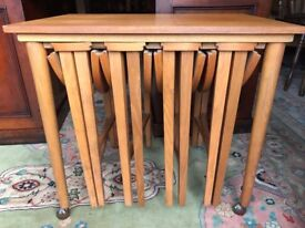Teak Nest Of Tables Drop Leaf Occasional Tables Retro - See Delivery