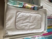 Vertbaudet baby changing mat and cover plus travel changing pad and bag.
