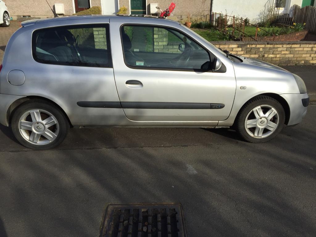 Renault Clio 1.5l, dCi, 80 bhp, 2005, 114k, great MPG, MOT