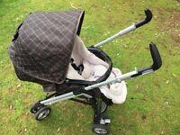 Used Mamas & Papas pliko pramette pram stroller pushchair