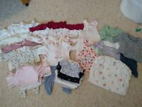 Large bundle of clothes for small baby girl