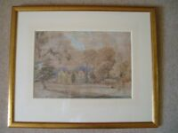 Two Original Antique Water Colours in Frames