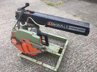Dewalt Radial Arm Saw FREE DELIVERY DW 1201 Chop Rip Saw Workshop Joiner Carpenter Woodwork Garage