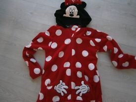 Disney Minnie mouse onesie with hood size 12 to 16