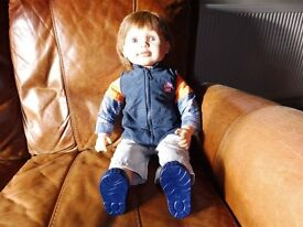 Lifesize BOY toddler doll (Chad Valley - Molly & Friends)