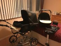Silver cross buggy , car seat & isofix base