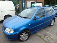 VOLKSWAGEN POLO 1.0 LOW MILEAGE NEW CAM BELT AND CLUTCH UP TO 15 MONTHS WARRANTY